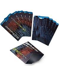 Fundas de bloqueo DreamTech RFID con diseño único. 10 piezas. Antirrobo premium para tarjetas de crédito/débito. Seguridad con protección NFC