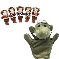 Homgaty Five Little Monkeys Swing in a Tree Finger Puppets Story Telling Nursery Fairy Tale Birthday, Christmas Gift