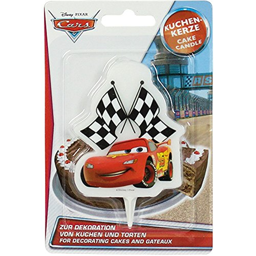 Geburtstag-kerze-sticks (DEKOBACK 01-14-00737 Kuchenkerze Disney Cars 2D)