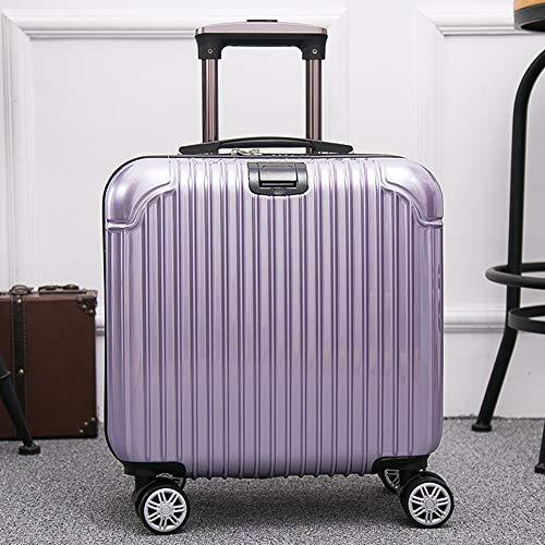 olley-Mini-Boarding, praktischer Bügel, Wasser-Getränkehalter, Laptop, Geeignet für Kurze Geschäftsreisen, 6 Farben erhältlich Trolley (Color : Purple) ()