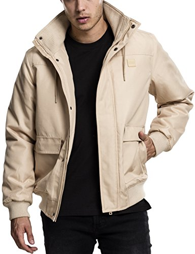 Urban Classics Heavy Hooded Jacket, Chaqueta para Hombre, (Beige 3), Small