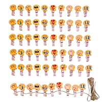 JZK Pegs Clips for Wedding Party Photo Holder Card Decoration and DIY Craft