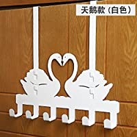 The Door Rear Hook Hanger Free Punch Ingenating Clothes Hook Key Clothes Hanger Wall Hanging
