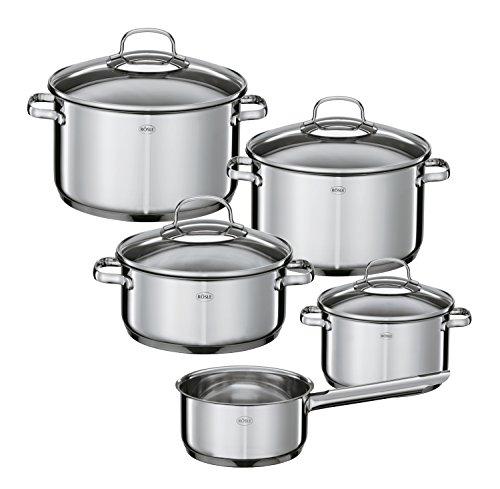 Rösle Elegance Cookware Set, Stainless Steel, Set of 10
