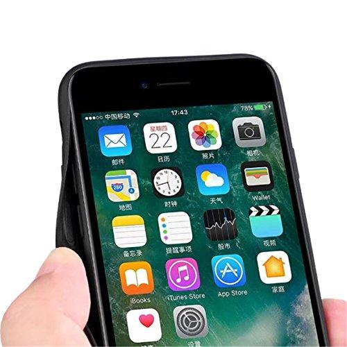 Cover iPhone 7/ iPhone 6 Silicone, Custodia Morbido TPU Flessibile Gomma Opaco Case Antiscivolo ,Ultra Sottile Cassa Protettiva Antiurto AntiGraffio per iPhone 7/ iPhone 6 (4.7) - Nero+Argento Blau+Schwarz