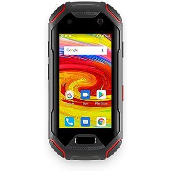 Unihertz Atom, el Smartphone 4G Escabroso más pequeño del Mundo, Android 8.1 Oreo Smartphone Desbloqueado con 4GB de RAM y 64 GB de ROM