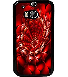 ColourCraft Beautiful Flower Design Back Case Cover for HTC ONE M8