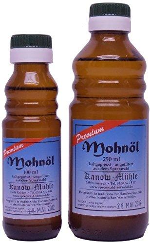 Kanow Mühle, Spreewald - Spreewälder Mohnöl, Premiumqualität - 500 ml