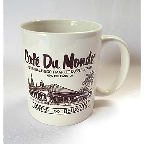 Cafe Du Monde Coffee Mug New Orleans LA Original French Quarter Beignets 10 oz by Cafe Du Monde