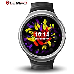 lemfo les1 Watch 1.39 Inch AMOLED pantalla circular Fashion 16 GB ROM 3 G GPS WIFI Smart Watch Phone (Fast Shipping)
