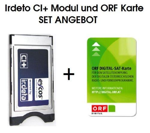 Eycos Irdeto CI+ Modul für den Betrieb in Receiver und LED LCD TVs mit der ORF ICE Karte