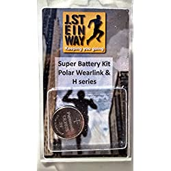 Battery and Waterproof Seal Kit for Polar Wearlink Transmitter & H1, H2, H3, H6, H7