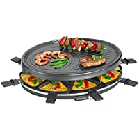 Bomann RG 2247 CB - Raclette grill para 8 personas, 1400 W