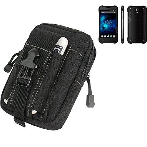 K-S-Trade Gürtel Tasche für Blackview BV5000 Gürteltasche Schutzhülle Handy Hülle Smartphone Outdoor Handyhülle schwarz Zusatzfächer