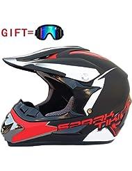 YYCC-helmet Casco da Motociclista, Casco da Gara di Resistenza ATV, Elementi di Design di Moda sicuri, Casco da Motocross,C,M