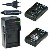 ChiliPower BP1310 Kit: 2x Akku + Ladegerät für Samsung NX5, NX10, NX11, NX20, NX100, ED-BP1310