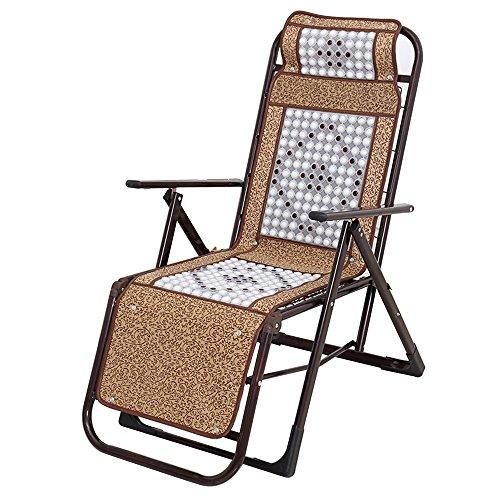 Unbekannt JCOCO EIS Seide Ball Massage Liege/Mittagspause Klappliege/Bürostuhl/Home Balkon faulen Schaukelstuhl/Hause tragbaren Stuhl/Alten Mann Chaiselongue -