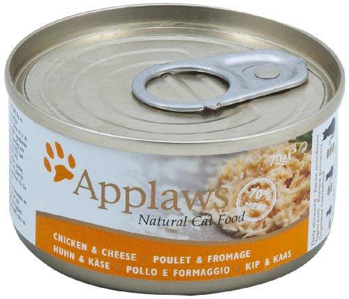Applaws Katze Dose Hühnchenbrust und Käse, 6er Pack (6 x 70 g)