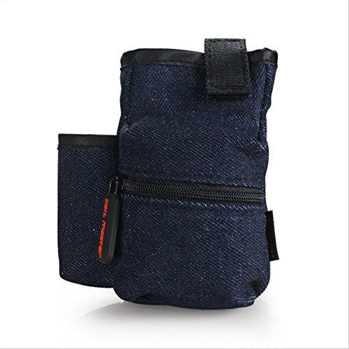 Coil Master Pbag in Jeans Optik, multifunktions Gürteltasche, der ideale Begleiter für den Tag + Coil Master Mikrofasertuch (Deutsche Zigaretten-etui)