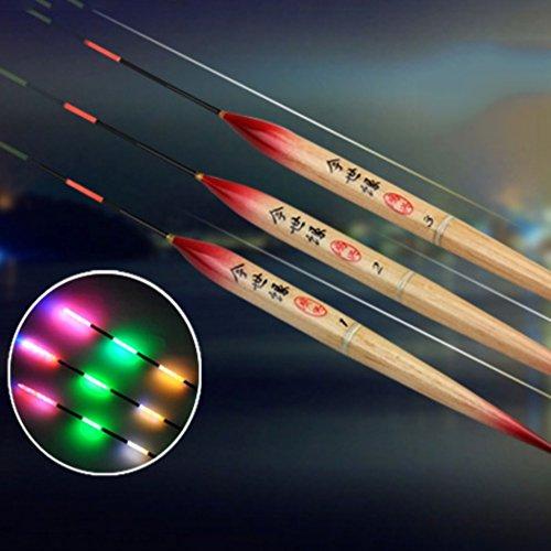 Yiitay - Taco de pescar con batería (LED, luz luminosa, 1 unidad)