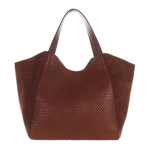 Coccinelle-Perine-Multi-Washed-Shopper-rotbraun-30cm