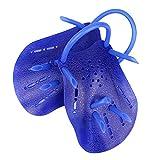 SODIAL (R) 1 Paar Kunststoff Schwimm Hand Paddles Webbed Handschuhe - Dunkelblau