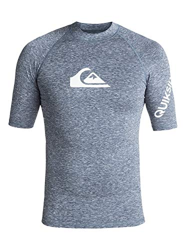 Denim Heather (Quiksilver Herren All Time S/sl Surf Tee, Dark Denim Heather, L)