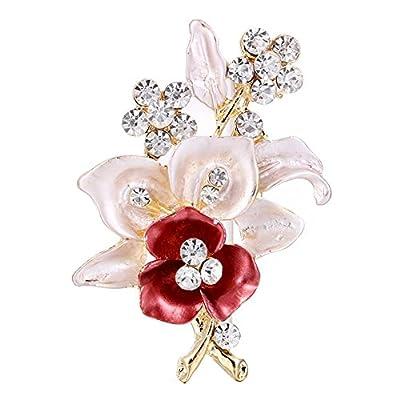 Demiawaking Womens Elegant Brooch Crystal Rhinestone Brooch Pins Diamante Corsage Wedding Bouquet Decor : everything 5 pounds (or less!)