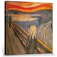 1art1® Edvard Munch - El Grito, 1893 Cuadro, Lienzo Montado Sobre Bastidor (40 x 40cm)