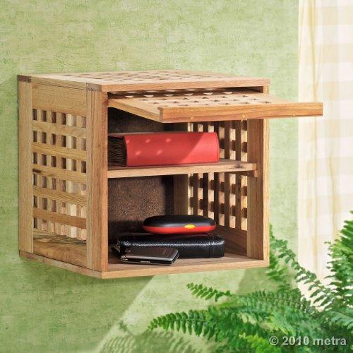 Wandschrank, Hängeschrank, Regal Bücher Walnuss Holz