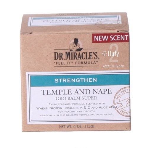 Dr. Miracle's Strengthen Temple & Nape Gro Balm Super Strength, 4 oz by Dr. Miracle's - Nape Gro Balm