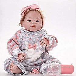 SONGXM Reborn Bebé Regeneración de vinilo de silicona completa muñeca bebé chica realista muñeca bebé 23 pulgadas 58 cm realista princesa juguetes para niños de cumpleaños regalo