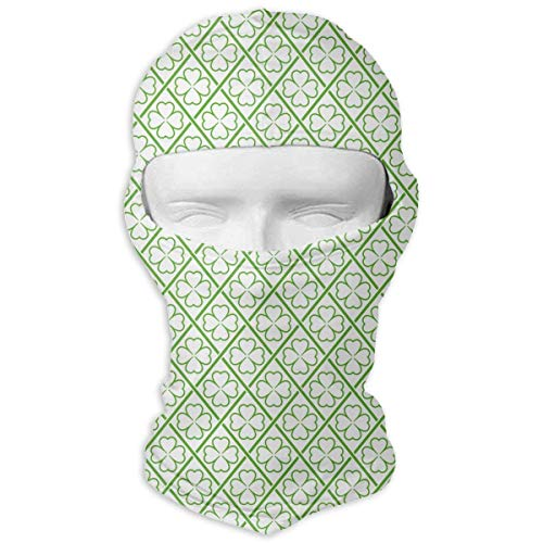 Sdltkhy St. Patrick's Day Four-Leaf Clover Men Women Balaclava Neck Hood Full Face Mask Hat Sunscreen Windproof Breathable Quick Drying Fashion3 (Four Leaf Clover Kostüm)