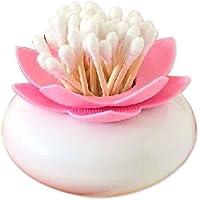 Omkuwl Créatrice de Lotus de Fleur de Lotus Cure de dent Boîte de Rangement de Bourgeon de Coton-Tige. Rose