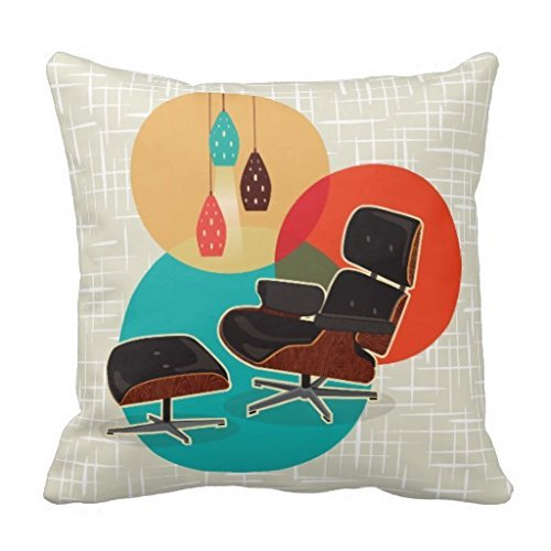 Eames Lounge Chair Mid Century Designers Tribute Pillow Case 18