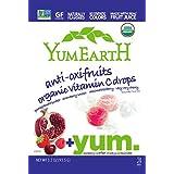 YumEarth - Caramelos Orgánicos de Frutas sabores Frutos Rojos - 30 unidades