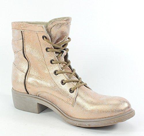 6861 MACA Kitzbühel Leder Stiefelette Boots Rose Metallic Rose Metallic