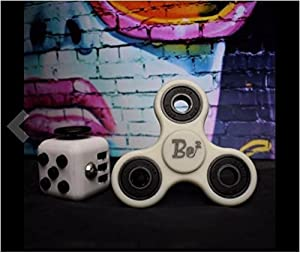 FidgetPro De-Stress Combo - Anxiety Cube and Tri Spinner - Sensory Toy for Adults and Children