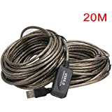 SuperShopperIndia Active Extension/Repeater Cable A Male to A Female 20 Meters (60 Feet) USB 2.0