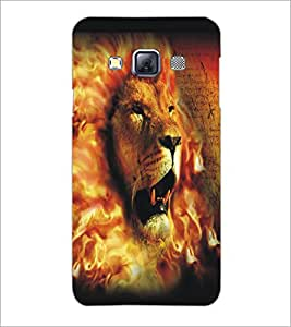 PrintDhaba Lion Face D-5426 Back Case Cover for SAMSUNG GALAXY A3 (Multi-Coloured)