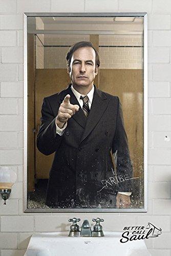 Better Call Saul Mirror-Maxi Poster, in legno, colore: multicolore