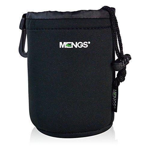 MENGS® Mittlere Größe (M) High Grade schützenden Neopren Objektivtasche - Haken und Gürtelschlaufe