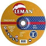 Leman 123049.05 Lot de 5 Disques de tronçonnage pour métal MD 125 x 2,5 x 22,23 mm