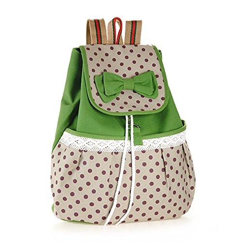 schule-freizeit-rucksack-tasche-susser-stil-leinwand-umhangetasche-mit-punkte-und-spitzen-design-gru