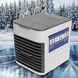 Refroidisseur d'air | Mini climatiseur | Climatiseur portable 3 en 1 | 3 Vitesses | 7 Couleurs, Noir ...