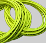 30m 3/20,3cm (10) Hi-Vis Industrie 20bar Kompressor Air Line/Wasser Schlauch–FDA genehmigt, fluoreszierende geflochten PVC