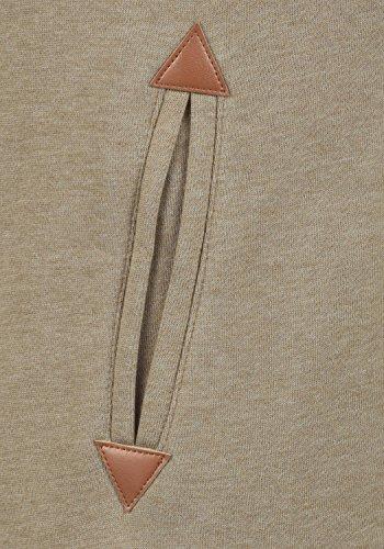 DESIRES Vicky Zip-Hood Damen Sweatjacke Kapuzenjacke Hoodie Mit Kapuze Fleece-Innenseite Und Cross-Over-Kragen, Größe:XS, Farbe:Sand Melange (8409) - 4
