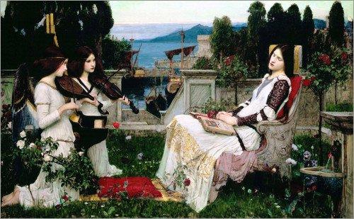 Poster 80 x 50 cm: Saint Cecilia von John William Waterhouse - hochwertiger Kunstdruck, neues Kunstposter