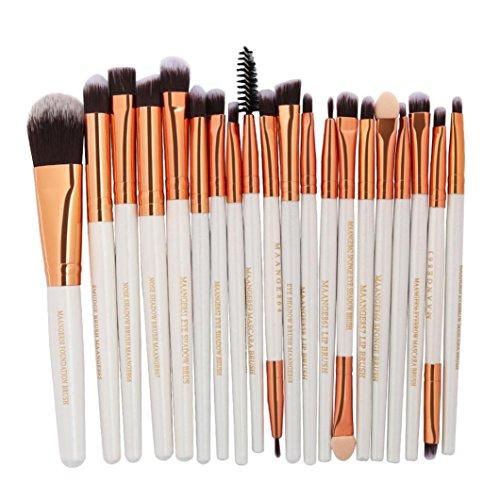 Ensemble de pinceaux de maquillage, Honestyi Brosses cosmétiques 20pc Lèvre Eyeliner à paupières en poudre (D)