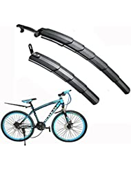 Itian Portable Bike Fender For Mountain Bike Adjustable Bike Fender Easy Fit For Front Rear Mudguard For Mountain Bicycle (Black)